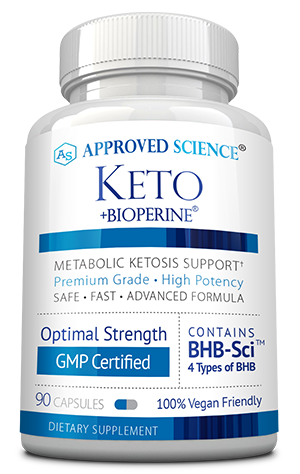 Approved Science Keto ingredients bottle